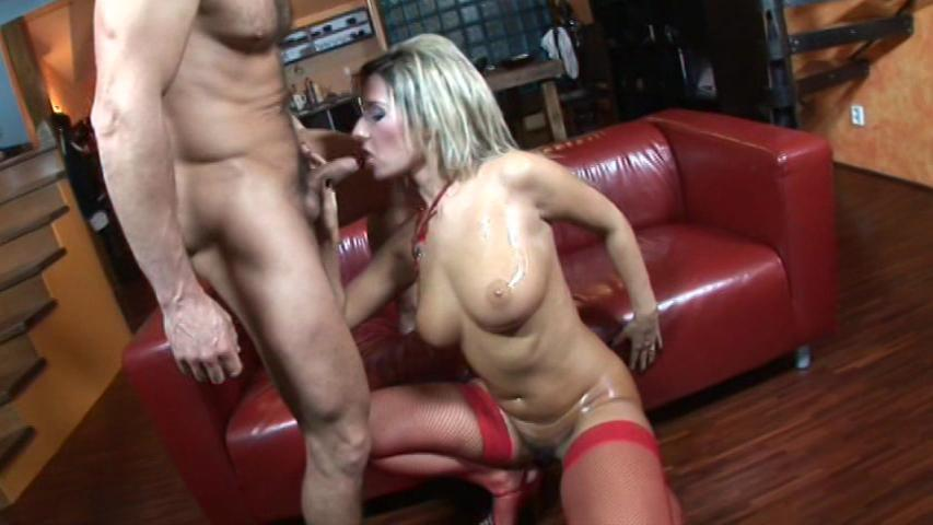 Big Phat Wet Natural Titties / This clip from Big Phat Wet Natural Titties by Combat Zone features Daria Glower stripped down and horny, sucking and jerking on a fat cock, swallowing it whole, using both her hands to stroke it.