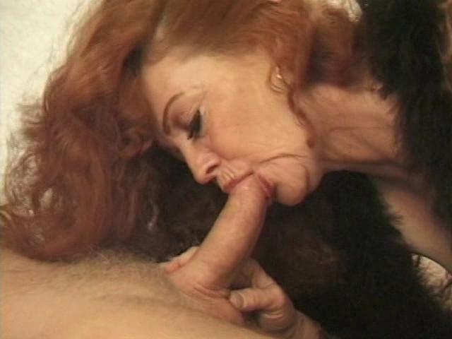 Perverted Grannies 2 / This clip from Perverted Grannies 2 by Totally Tasteless Video features a super-hot redhead granny giving one hell of a blowjob, sucking that cock like only a mature, experienced woman can.