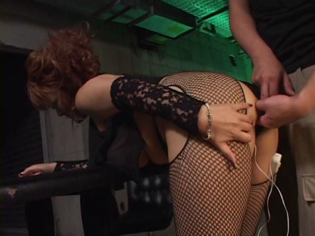 Eren Spacial / This clip from Eren Spacial by Cinema Gas Unit Corp. features Eren in fishnets bent over, getting her sweet little pussy and ass fingered and probed with a glass dildo.