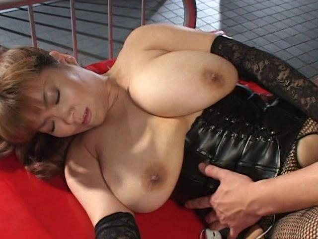 Let Me Touch: Eren / This clip from Let Me Touch: Eren by Cinema Gas Unit Corp. features Asian big-breasted M.I.L.F. Eren in fishnets and a corset getting fucked and getting herself off with a vibrator, her big natural breasts bouncing.