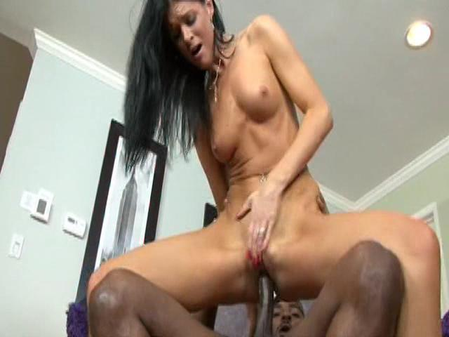 All National Interracial Cougar Hunt 2 / This clip from All National Interracial Cougar Hunt 2 by Grind House Porn and Acid Rain features the horny cougar slut India Summer riding a big black cock, showing off her hard abs and perfect little tits.