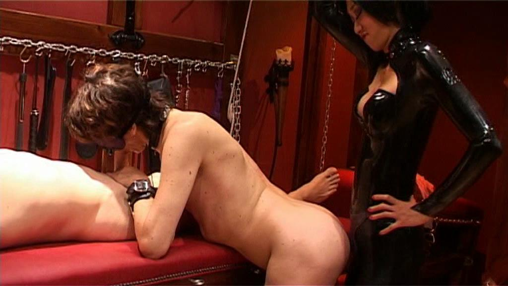 Sensual Oriental Sadist 3 / This clip from Sensual Oriental Sadist 3 by Dom Promotions features the mistress all dressed up in rubber, ass-fucking that horny motherfucker while he sucks a man's dick, taking it deep in his throat while he gets reamed.