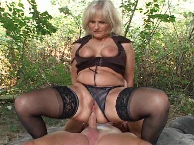 Geriatric G Spot 2 / This clip from Geriatric G Spot 2 by DVSX features a hot and horny granny taking a big dick in her tight little asshole  outside under a bridge, fucking that thing like only a real pro can.