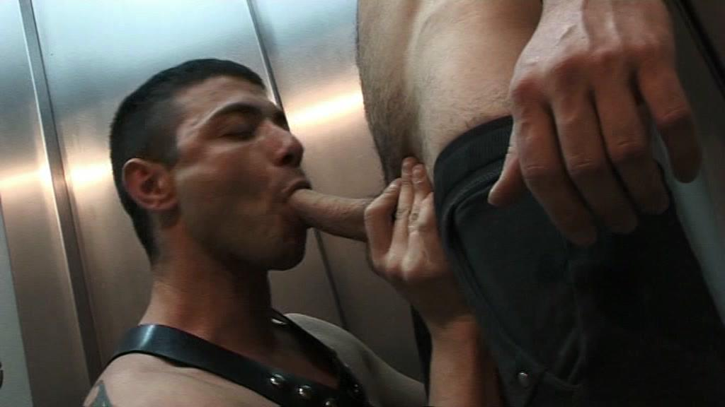 This clip from Street Dogs En Chueca by Jalifstudio features Manu Perro Nash and Alex Krum in a pissing scene, and this pig is getting pissed all over, drinking it and bathing in it before moving on to suck his mans dick.