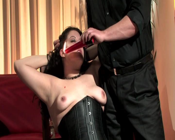 Belastungs Proben / Watch a Master drip hot wax on his pretty slave's pale tits and then scrape it off with a knife. Master Costello brings you Germany's finest BDSM!