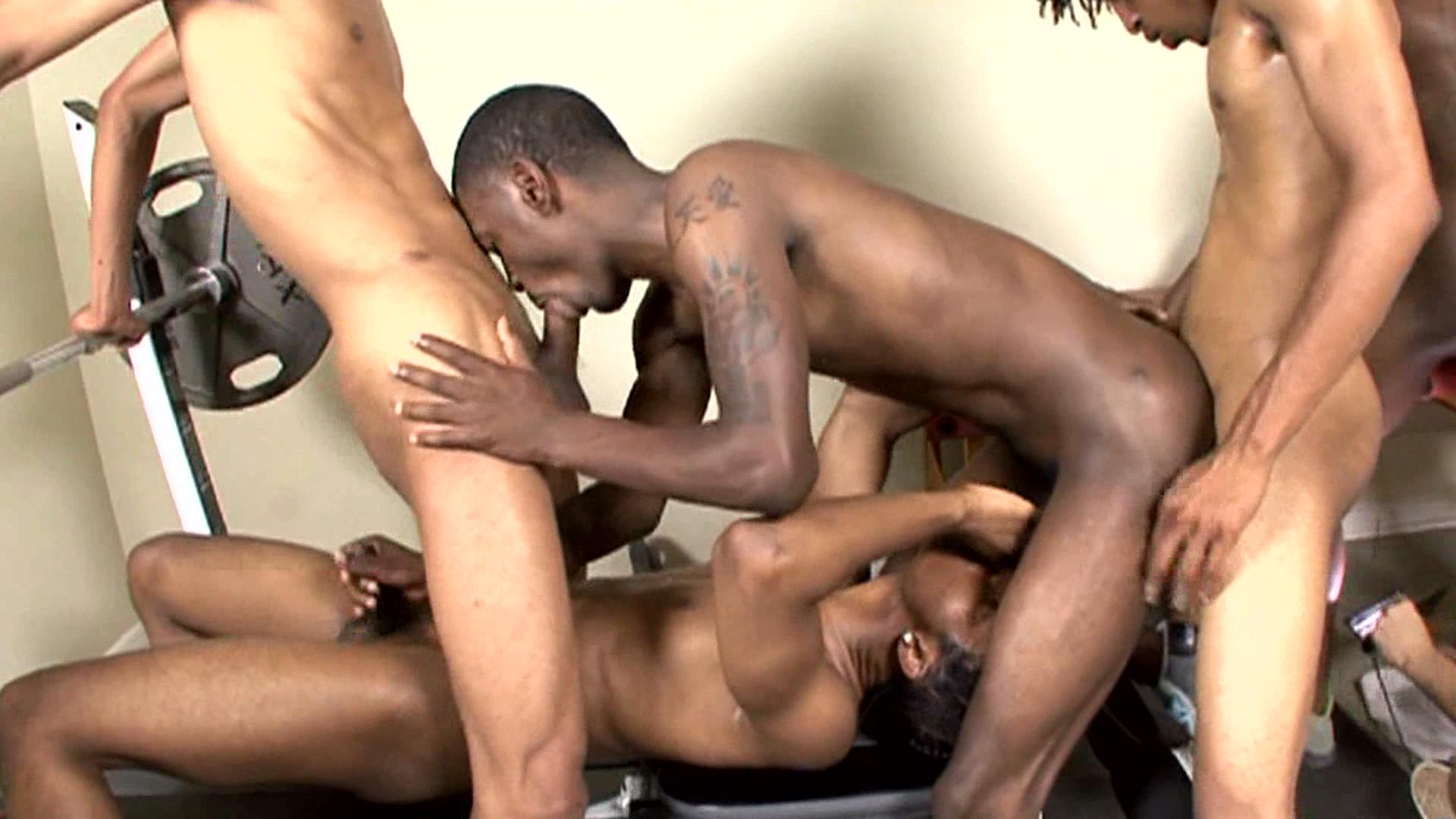 Hot gay boys at thug orgy