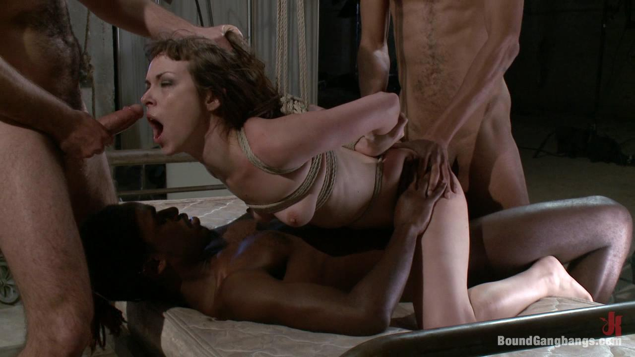 Ebony gets tit slapped hard