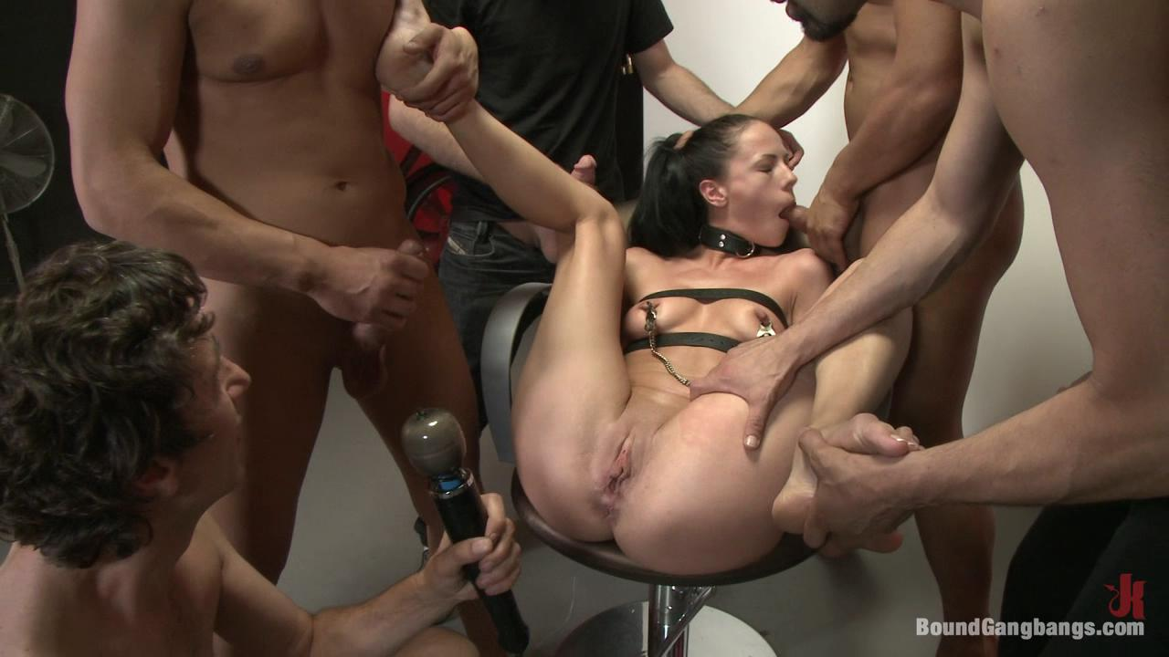 Bondage gang fucked that little