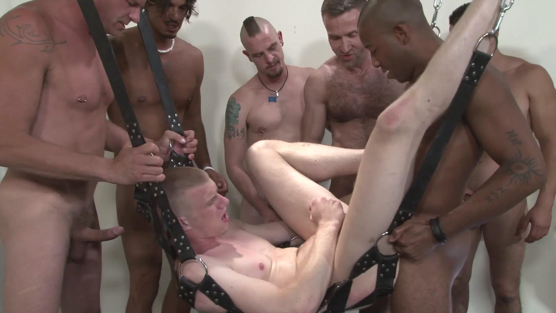 Gay black cock gang bang video