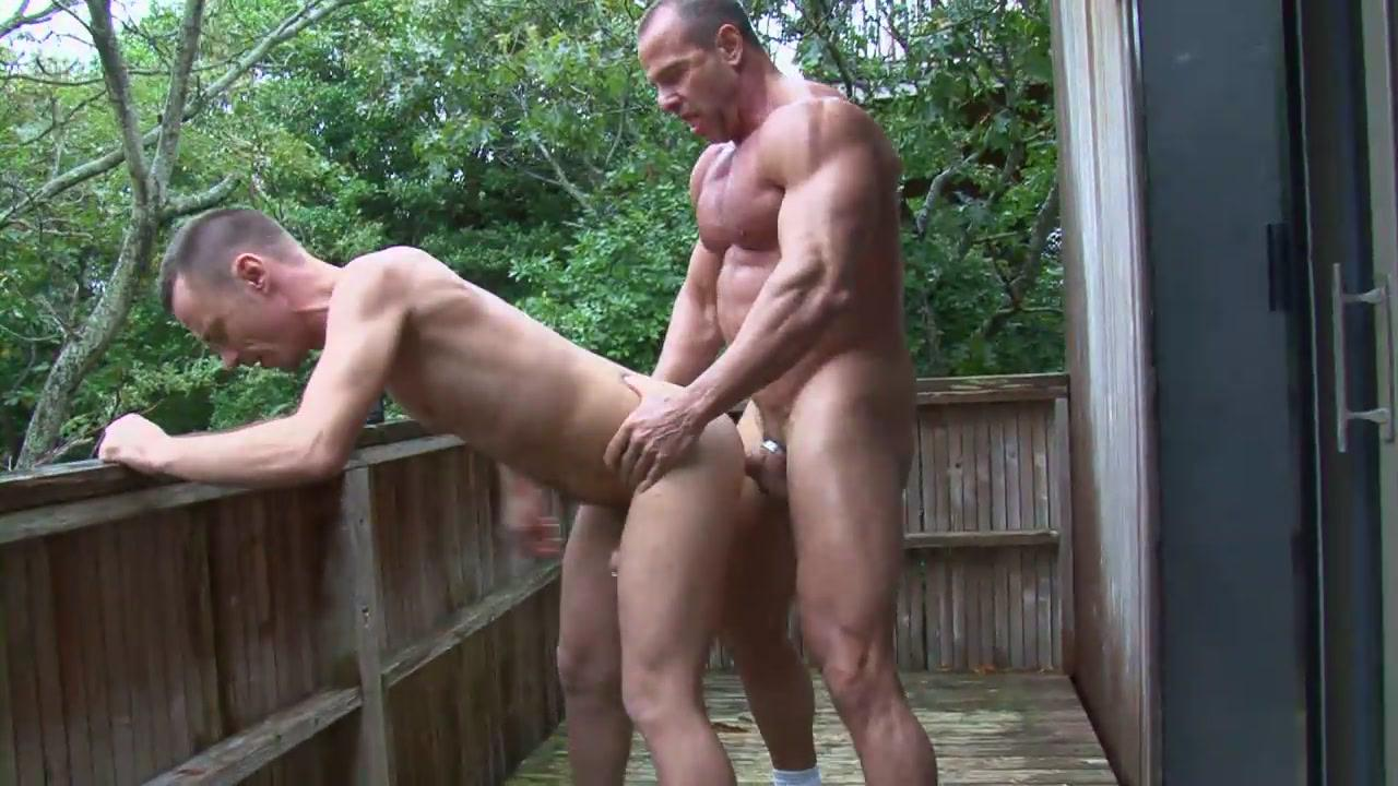 Gay bareback outside