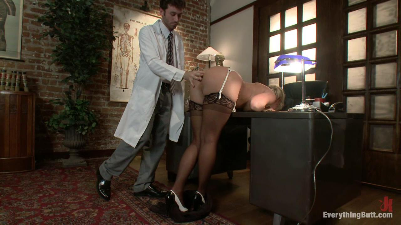 Everything Butt: Abuse Of Power / Phoenix Marie is a perverted doctor who gets off by sucking her patient's cock and not letting him come.