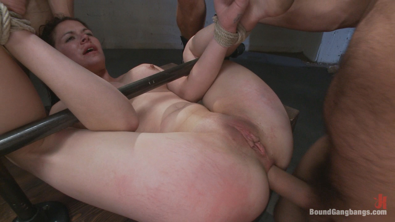 Horny blonde gets gagged and fucked fast and hard