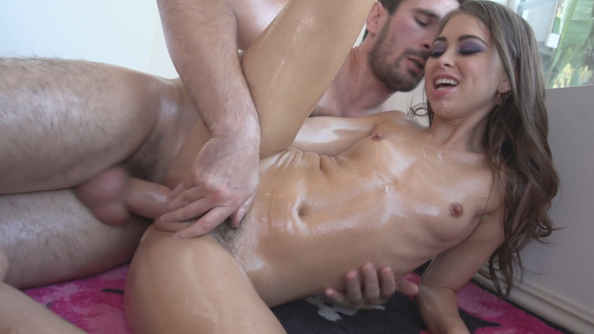 Oil Overload 10 / Manuel covers Riley Reid in more than just oil.