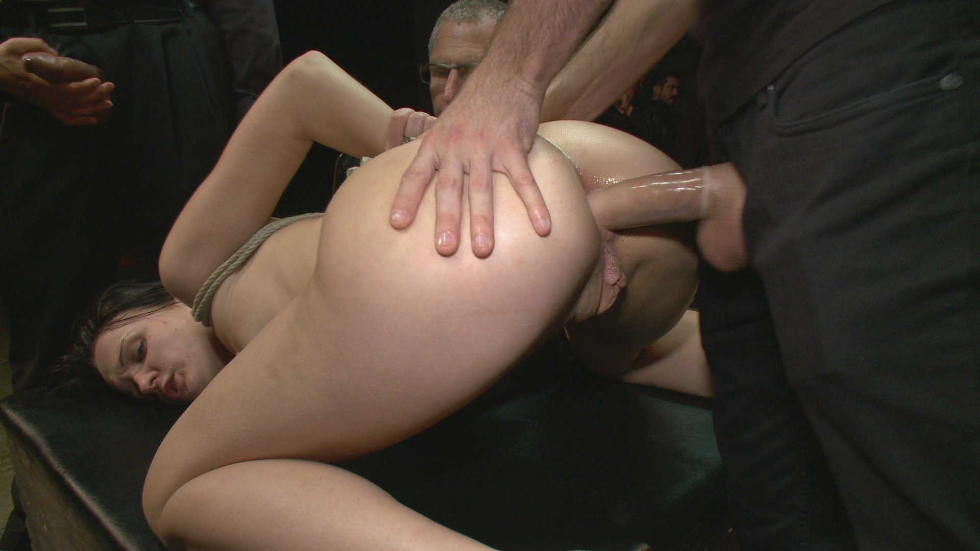 Public Disgrace: Reality Check / The pain is real, the audience is real, the hands of strangers fondling and fingering you is real, the orgasms are real, everything about it is real! This reality check was a bit much for Bobbi to handle, but she did her best and took it like a champ!
