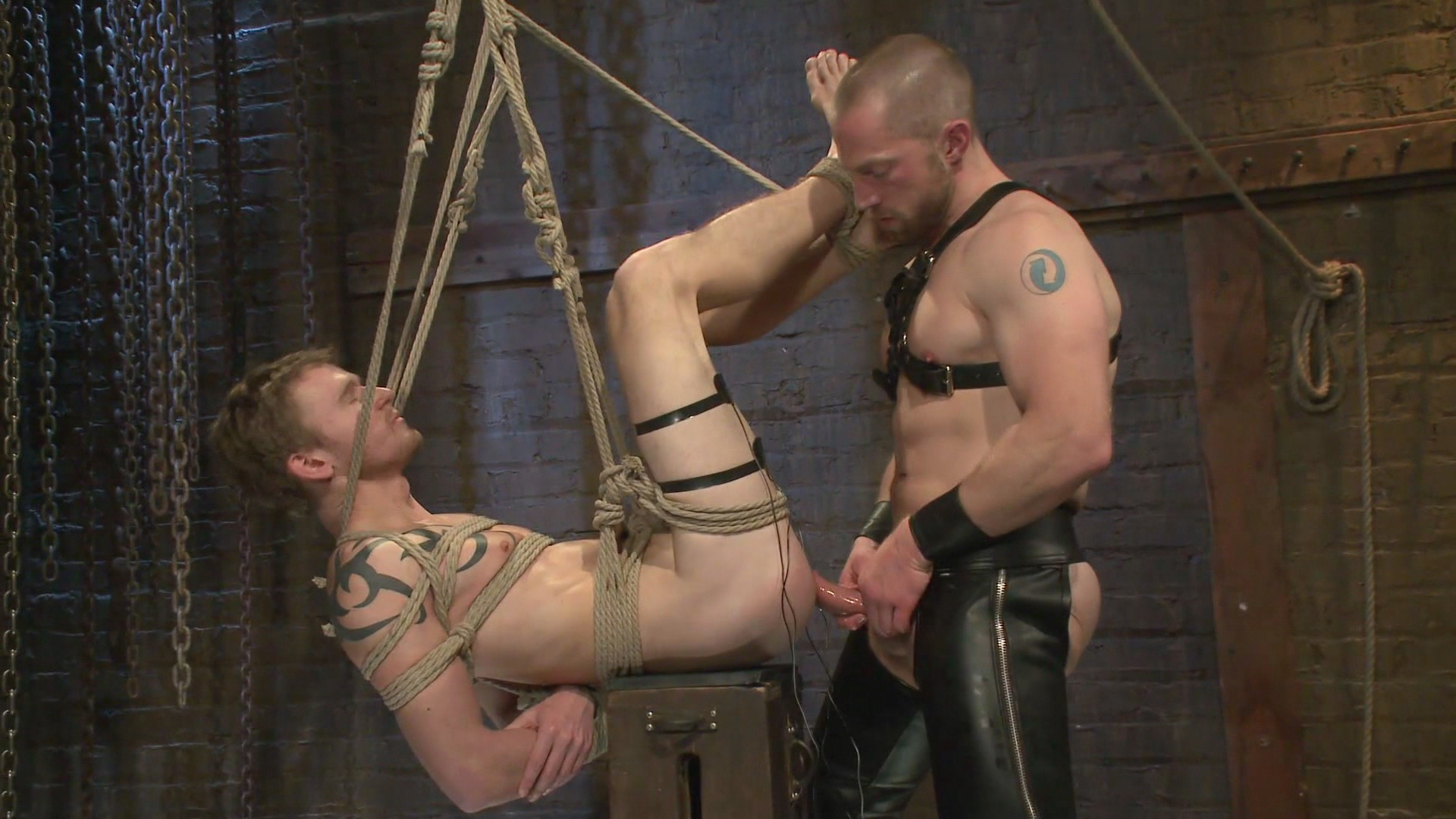 Bound Gods: Perverted Leather Daddy And His Helpless Captive Xvideo gay