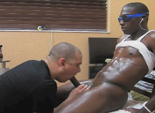 Gay black cum swallow