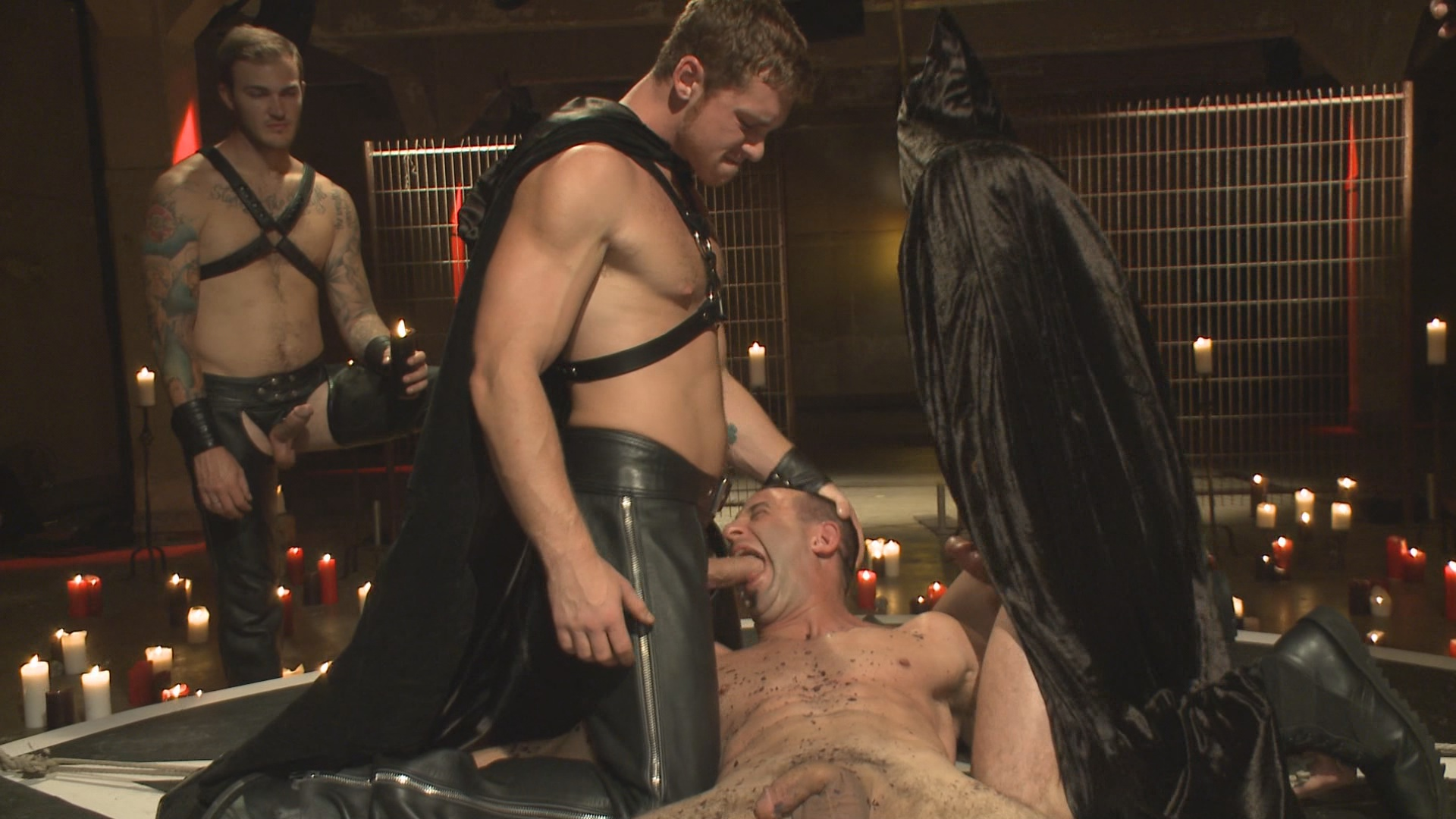 Bound In Public: Horny Crowd Torments Bound Muscled Stud For BIP