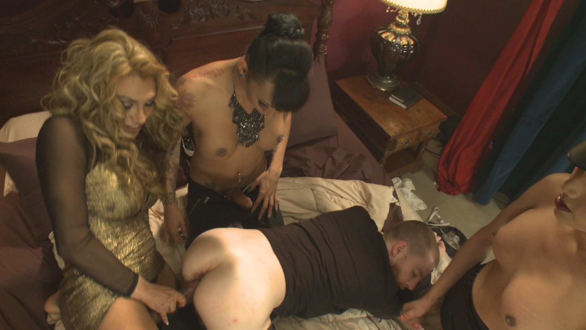 TS Seduction: The First Ever TS Gang Bang On TS Seduction – The Gangster Gangbang