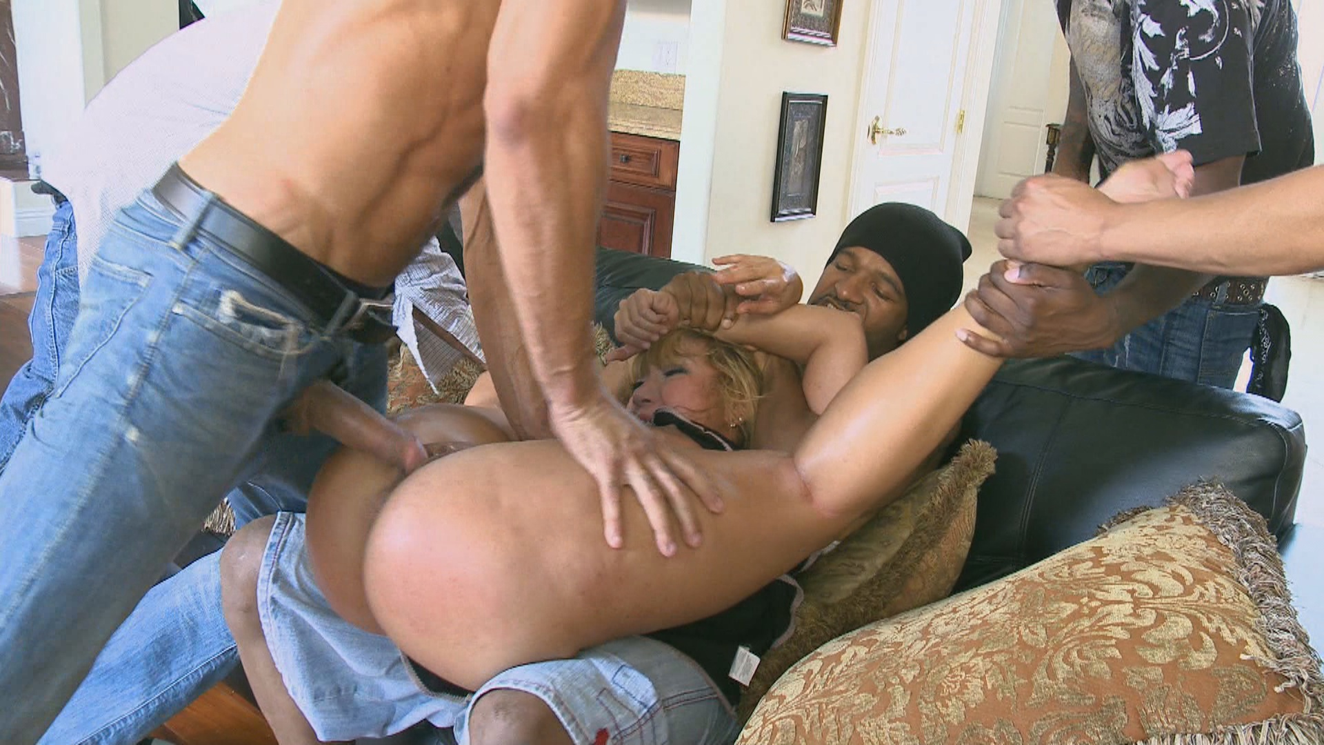 Hardcore Gangbang: Rich MILF Taken Down And Gangbanged By Her Daughters Black Thug Friends Xvideos