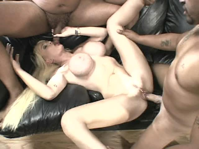 Screw My Wife Please 47 / This white, blonde wife takes on two big black cocks as her husband watches in a hot interracial swingers clip from Wildlife Productions!