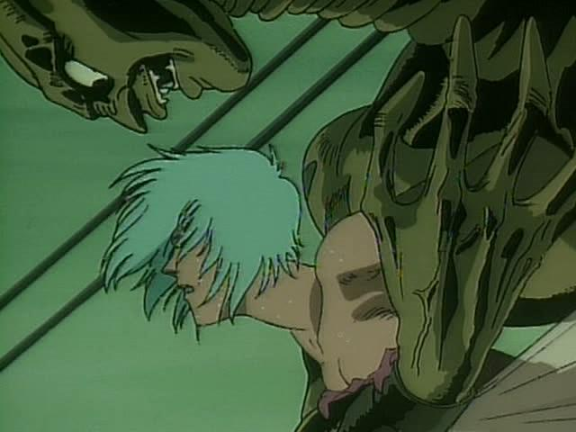 Urotsukidoji 2  Legend Of The Demon Womb / This clip from Urotsukidoji 2 Legend Of The Demon Womb by Anime 18 features some very invasive and penetrating demon fuck of a sexy little nubile winged creature while flying through the night sky.